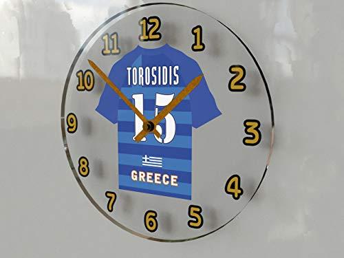 FIFA europäischen International Fußball Mannschaften–Fußball Shirt Wanduhren–Jeder Name, beliebige, jedes Team. Greece FIFA International Football Team Wall Clock