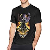 One Winged Angel Lightweight Hoodie Short Sleeve T Shirts for Men Black