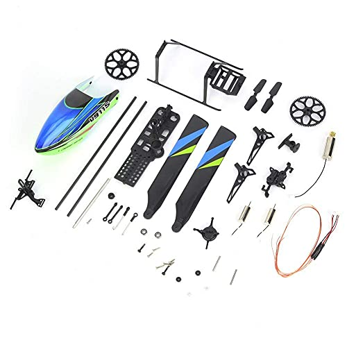 Drfeify Helicopter Accessories Set, Professional Spare Parts Accessories Set Compatible with WL V911S 4 Channel Remote Control Helicopter