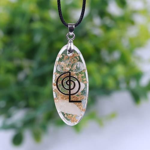 Collar de cristal Waterdrop en forma de collar colgante con la joyería del símbolo