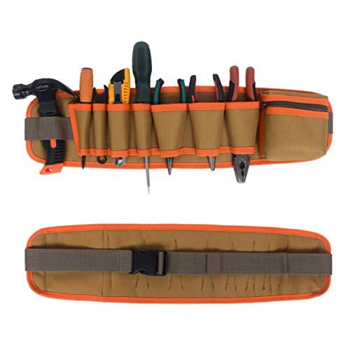 Bolsa de herramientas multifuncional, bolsa de cinturón de almacenamiento de herramientas de mantenimiento ajustable, delantal de trabajo, utilizada para carpinteros, electricistas, jardineros4 piezas