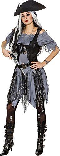 Orlob Damen Kostüm Gothic Geister Piratin Karneval Halloween Gr.38/40