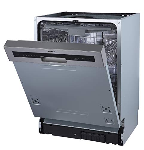 Hisense HI620D10X Geschirrspüler/teilintegrierbar/ 60 cm/ 14 Maßgedecke/TotalDry/Innenraum aus Edelstahl/AquaStop