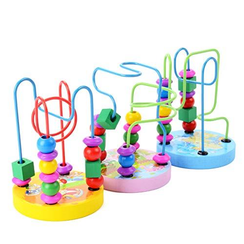 Naisicatar Holzperle Maze Roller Coaster für Junge Mädchen Vorschullernspielzeug Klassischen Entwicklungsspielzeug für Baby-Mädchen (Random Style) Party-Geschenke