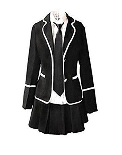 Evalent Giapponese Anime Clothes Navy Sailor Suit Autunno Manica Lunga Ragazza Studenti Uniformi Scolastiche Costume (M)