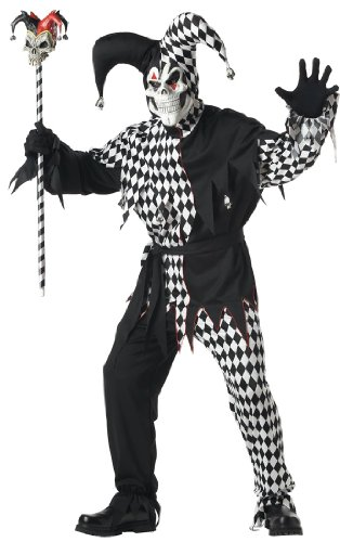 Generique - Halloween Clownkostüm für Herren schwarz L