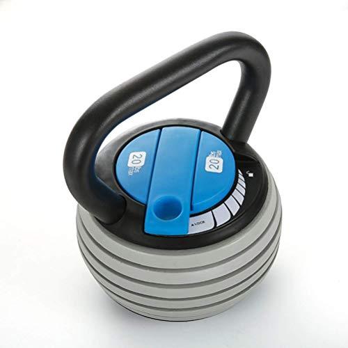XHCP Kettlebells Out Fitness KettlebellsFitness, einstellbares Gewicht 10lb-40lb, verwendet für das Kerntraining Muskeltraining Krafttrainingsgeräte (Farbe: Schwarz + Blau)