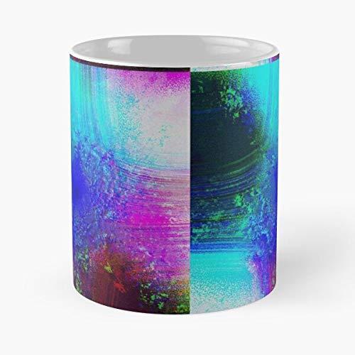 Turquesa Muy Whirlpool Diseño Vibrante Magenta Agua Venta Azul Fresco Moderno Nuevos Colores Únicos Granate Mejor 11oz Cerámica Café Taza Comer Comida Bite John Best 11oz Cerámica Coff