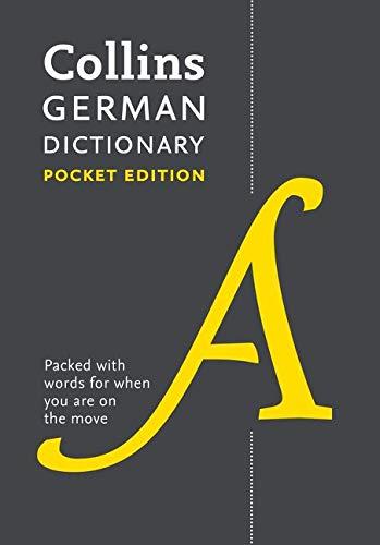 Collins German Dictionary: Pocket Edition (English and German Edition) -  Collins Dictionaries, 9th Edition, Flexibound