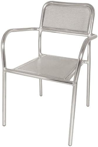 venta directa de fábrica Bolero DP921apilamiento sillón, Bistro de aluminio (Pack (Pack (Pack de 4)  Venta barata