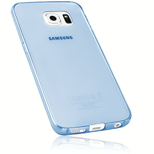 mumbi Hülle kompatibel mit Samsung Galaxy S6 Edge Handy Case Handyhülle dünn, transparent blau