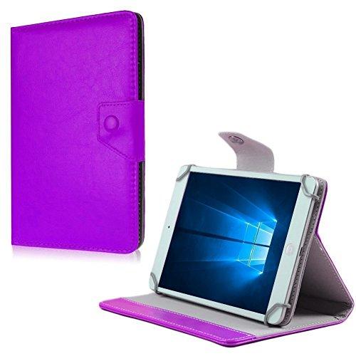 NAUC Tablet Tasche für HP Pro Slate 8 Hülle Schutzhülle Hülle Schutz Universal Cover, Farben:Lila
