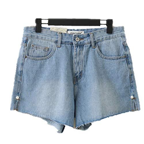 Adelina dames shorts retro jeans korte mode meisjes slim elegante jeansshort modieuze jeans damesjeans zomerbroek split grote maat
