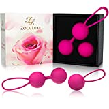 Kegel Excercise Weights 3 in 1 Set + TRAINING MANUAL Tightening Balls for Beginners Bladder Control Incontinence Strengthen Pelvic Floor Pregnancy Postpartum Recovery - Ben Wa Balls for Women