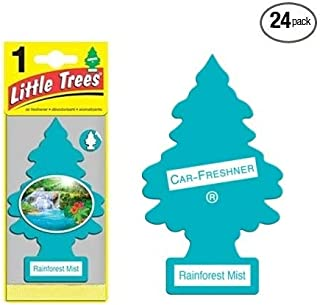 Little Trees Car Air Fresheners Rainforest Mist Scent (24 Pack)