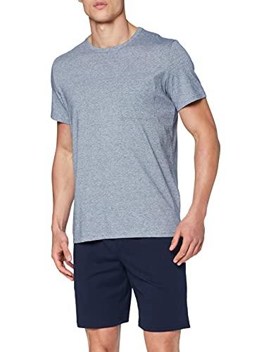 HOM Herren Short Sleepwear \'Cotton Comfort\' - Navy - S