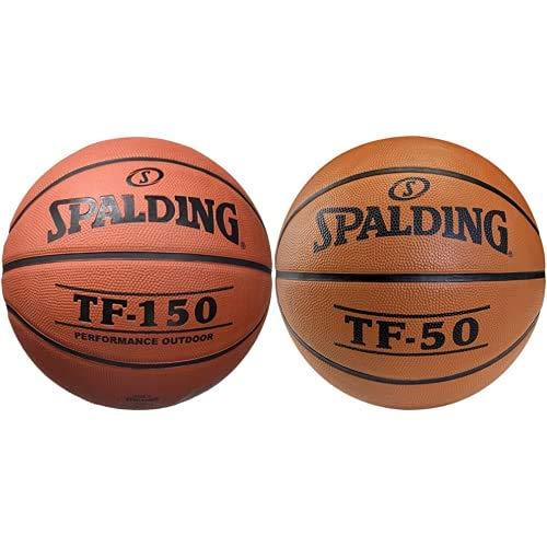 Spalding TF150- Ballon de Baloncesto , Color Naranja, Talla 6 + TF50 Outdoor SZ.6 (73-851Z) balón de Baloncesto, Unisex, Naranja, 6