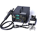 702B 2-in-1 Electric SMD Hot Air Rework Station & Soldering Iron with 3