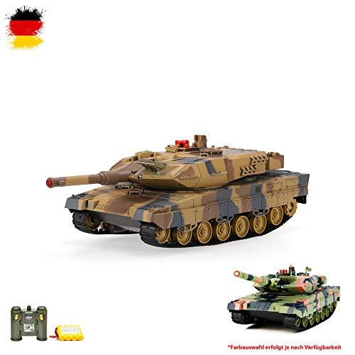 RC ferngesteuerter German Leopard II A5 Panzer 2.4GHz Edition Tank Militär-Fahrzeug Modell, Gefechtmodi, Schusssimulation, Sound und Beleuchtung, Neu