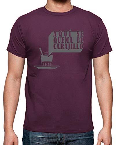 latostadora - Camiseta Caillo de Castell para Hombre Burdeos XL