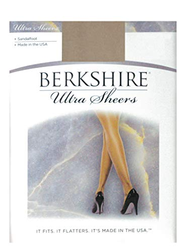 Berkshire Women's Ultra Sheer Non-Control Top Pantyhose - Sandalfoot, Nude, 2+ (Finding The Best Female Ankle Tattoos)