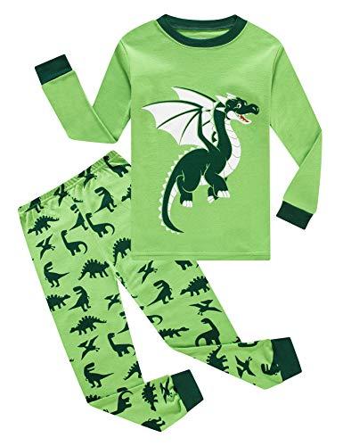 Image of Green Dragon Pajamas for Toddler Boys - See More