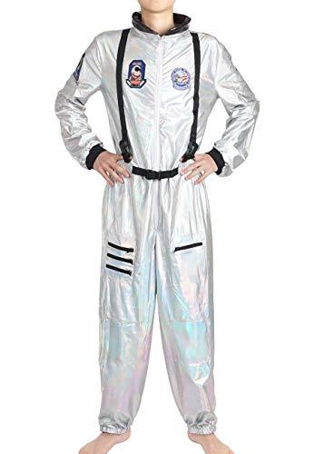CoolChange Astronauten Kostüm, glänzender Space Overall, Weltall Verkleidung für Männer, Größe: M