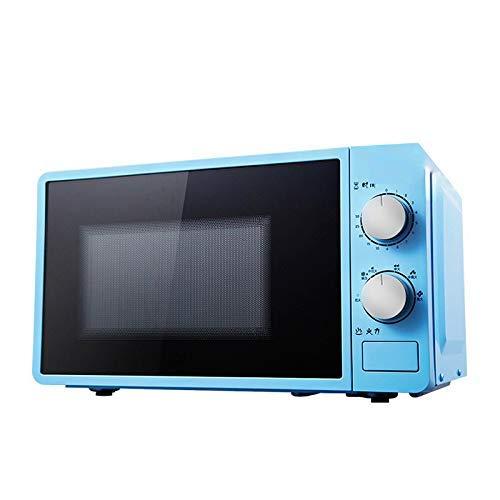PLEASUR Horno de microondas Multifuncional pequeño de 20L 220V Calentador de Alimentos Giratorio mecánico Cocina para cocinar al Vapor/Calentar/hervir, Azul