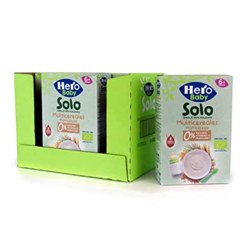 Hero Baby - Papilla de Multicereales Ecológica sin Azúcares Añadidos, para Bebés a Partir de los 6 Meses - Pack de 6 x 300 g