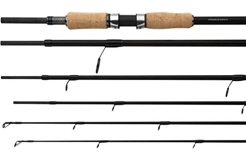 SHIMANO S.T.C. Dualtip H-XH Spinning, 2,5metro, 8,2ft, 20-100gramo, 7 Piezas, Caña de Pescar Spinning, STCDTHXH2521