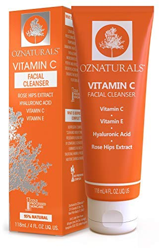 OZNaturals Vitamin C Face Wash: Natural Facial Cleanser for Oily, Dry, and Sensitive Skin - Paraben...