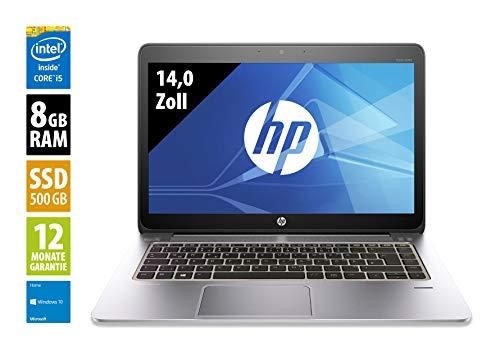 HP EliteBook Folio 1040 G1-14,0 Zoll - Core i5-4300U @ 1,9 GHz - 8GB RAM - 500GB SSD - WSXGA (1600x900) - Webcam - Win10Home (Zertifiziert und Generalüberholt)