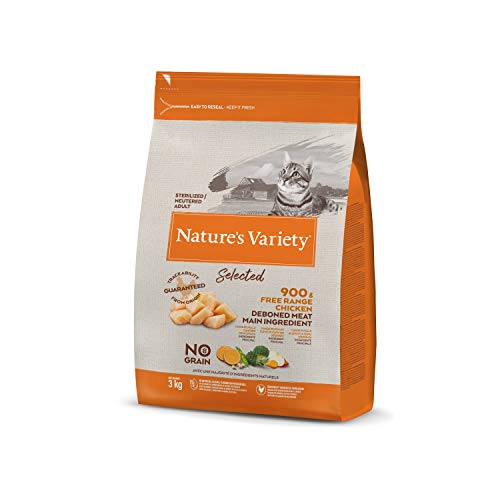 Nature's Variety Selected - Pienso para gatos esterilizados con pollo campero deshuesado 3 Kg 🔥