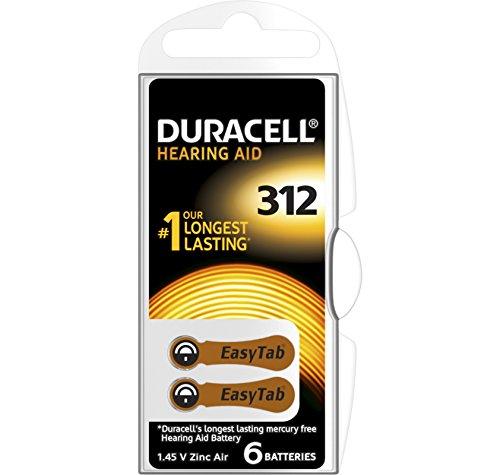 60 Duracell Activair Hearing Aid Batterien Gr. 312 Hörgerätebatterien (10x 6er Blister) PR41 Braun 24607