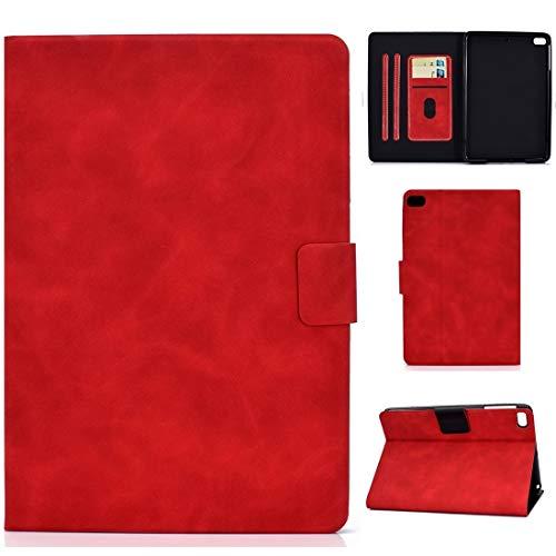 Caja Protectora de la Tableta for el iPad Mini 5/4/3/2/1 Piel de Vaca Textura Horizontal de Cuero del tirón del Caso con el sostenedor y Ranuras for Tarjetas y sueño/Función de Despertador