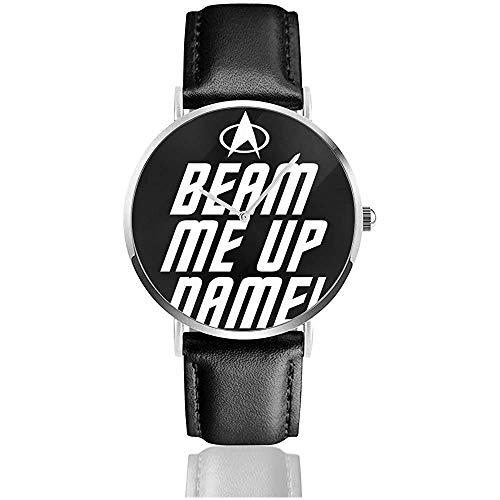 Business Casual Personalisierte Beam Me Up Scotty Star Trek Uhren Quarz Lederuhr