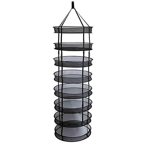 Cokeymove Balkon mesh trockennetz, 4/6/8 Schicht Kleidung hängen wäscheständer, stahlringe Faltbare abnehmbare Camping wäscheständer Pleasure
