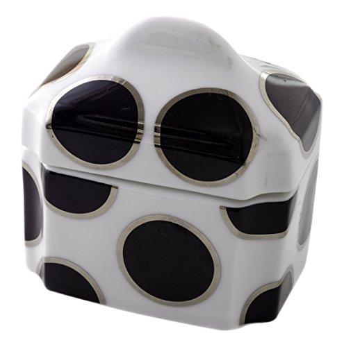 CRU by Darbie Angell Pearl Sugar Bowl, Black/Platinum/White