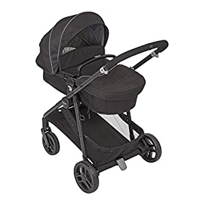 Graco Transform 2-in-1 Pushchair/Stroller (Birth to 4 Years Approx, 0-22 kg), Converts from Pramette to Pushchair, Black   1