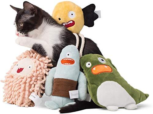 pidan猫おもちゃぬいぐるみまたたびキャットニップネコ遊び運動不足ストレス解消(Fluffy)