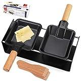 Käseschmelzer Raclette-Grill, Antihaft-Raclette-Grill-Set, Mini-Käseschmelzpfanne...