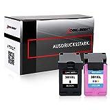 2 Logic-Seek Tintenpatronen kompatibel zu HP 301XL für HP Deskjet 2540 HP Envy 4500 - Schwarz 20 ml Color 21 ml