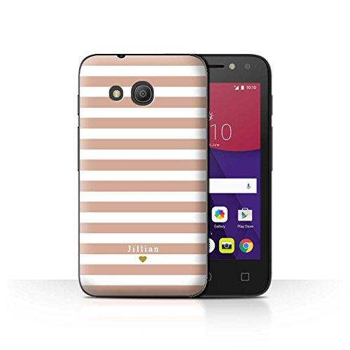 Stuff4Phone Case/Cover/Skin/alcpix44/Custom Stripes/Striped Collection Coeur Rose Nu