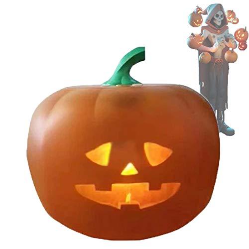 Calabaza Eléctrica Halloween Led Luces, USB Linterna de Calabaza con Una Extraña...
