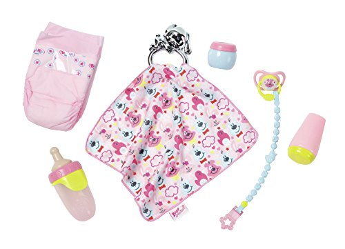 Zapf Creation 824467 BABY born Accessoires-Set Puppen Wickelzubehör, bunt
