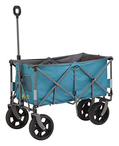 Uquip Faltbarer Bollerwagen Holly XXL - Vollgummi Reifen, Große Ladefläche 100kg