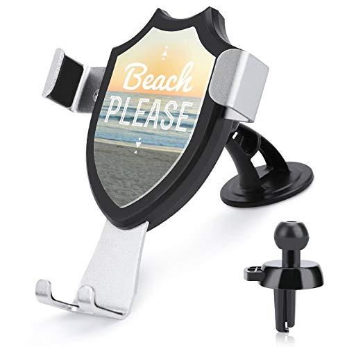 Soporte de ventilación para coche con manos libres para teléfono celular, para la playa, por favor, compatible con iPhone 12/12 Pro/11 Pro Max/8 Plus y más de 4.0 a 6 pulgadas teléfonos móviles