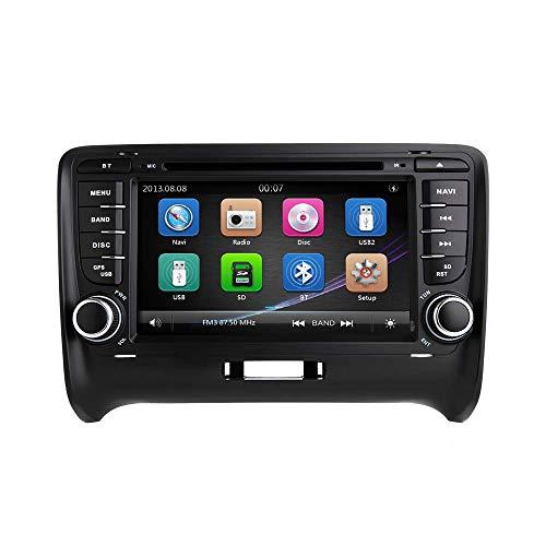 Car Stereo, ZLTOOPAI per AUDI TT MK2 Din Doppia unità di testa 7 pollici capacitivo multi touch car radio GPS con carta mappa gratuita Strumenti di rimozione della fotocamera