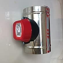 JOHNSTON 3-5 Inch Stainless Steel Air Damper Valve Hvac Electric Air Duct Motorized Damper For Ventilation Pipe Valve 220V Air Valve