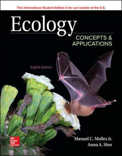 Compare Textbook Prices for Ecology: Concepts and Applications 8 Edition ISBN 9781260085150 by Molles, Manuel,Sher, Anna